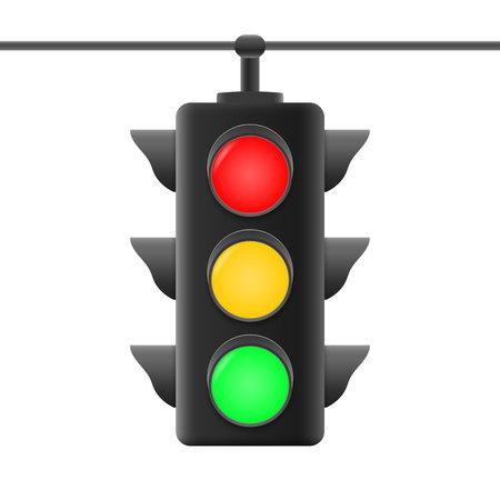 Realistic traffic road lights . Vector illustration Vektoros illusztráció