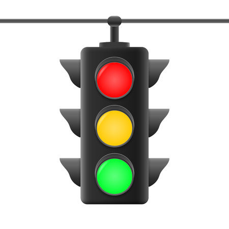 Realistische Verkehrsampeln. Vektor-Illustration Vektorgrafik