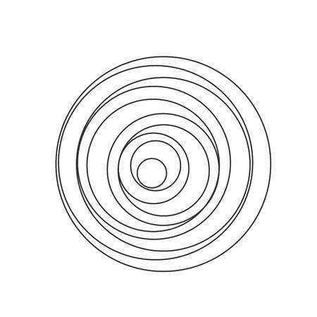 Circular spiral sound waves, vector illustration