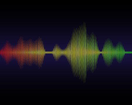 Music sound waves for equalizer, vector illustration Ilustração