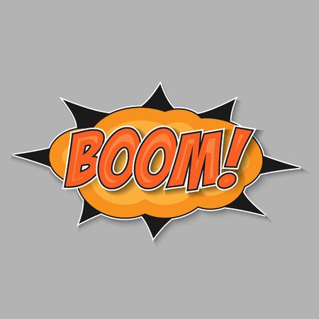 Pop art bomb boom with bubble speech
