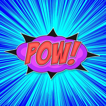 Pop art bomb pow with bubble speech