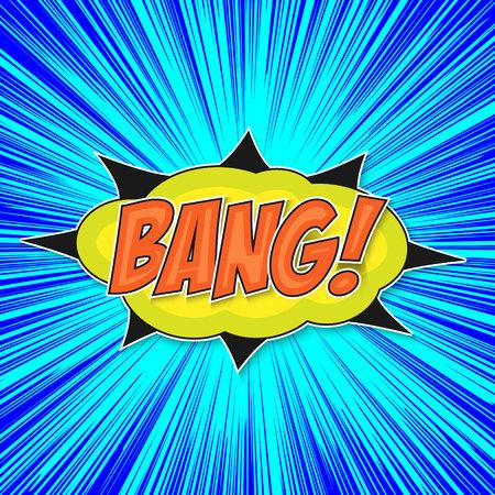 Pop art bomb bang with bubble speech
