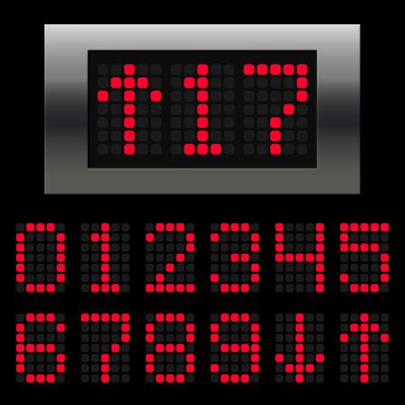 Elevator digital position indicator numbers