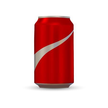 Aluminiumdose auf weißem Hintergrund trinken