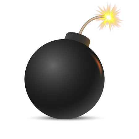 Cartoon bomb Vector illustration . Vector illustration