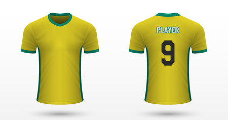 Realistic soccer shirt Norwich, jersey template for football kit. Vector illustration