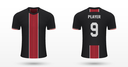 Realistic soccer shirt Bayer Leverkusen, jersey template for football kit. Vector illustration Vector Illustration
