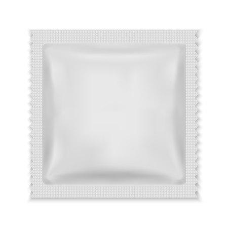 White Blank Foil Food Snack Sachet Bag Packaging