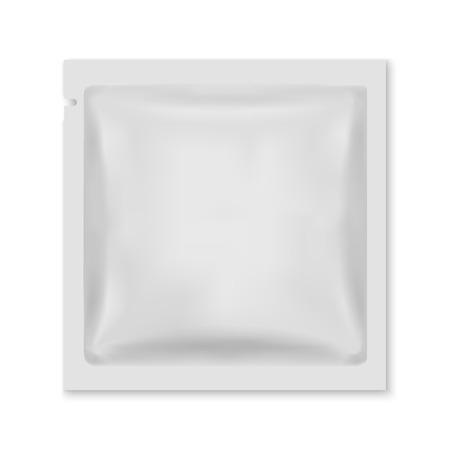 Biała pusta folia do pakowania żywności w saszetkę z przekąskami