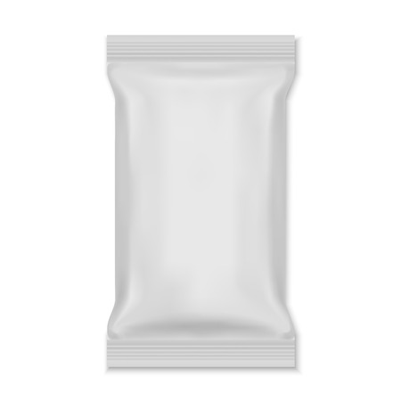 Weiße leere Folie Lebensmittel Snack Sachet Beutelverpackung