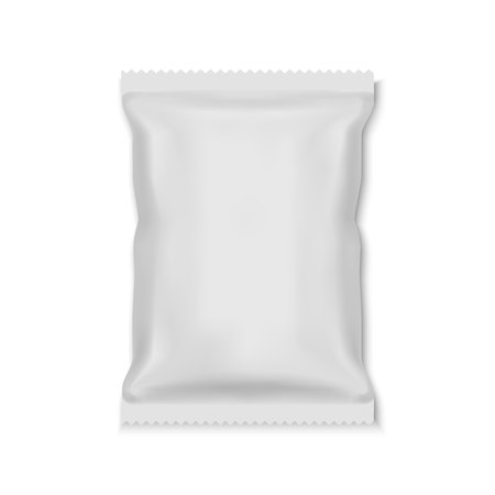 Emballage de sac de sachet de casse-croûte de nourriture d'aluminium blanc blanc