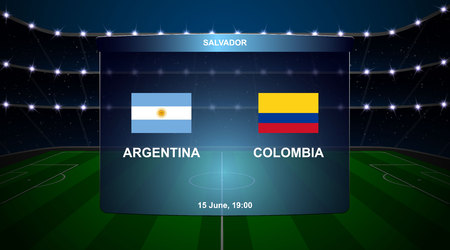 Argentina vs Colombia football scoreboard broadcast graphic soccer template