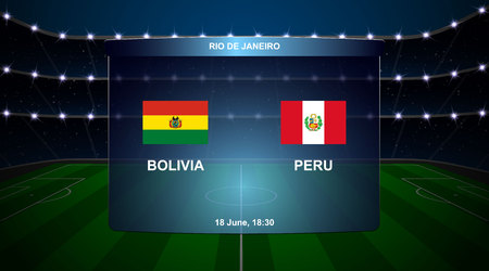 Bolivia vs Peru football scoreboard broadcast graphic soccer template