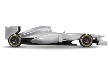 Realistic race car template mock up
