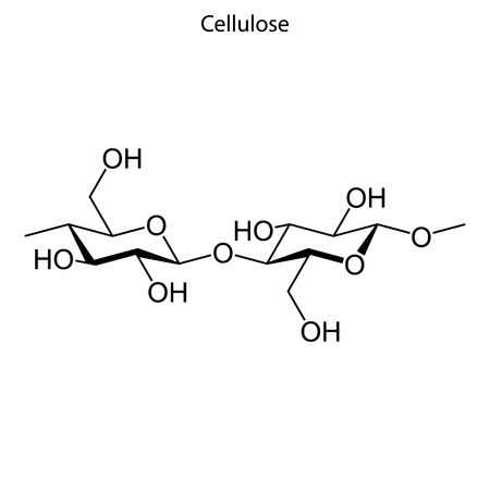 Skeletal formula of Cellulose. chemical molecule