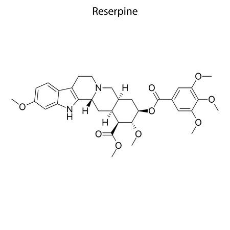 Skeletal formula of Reserpine. chemical molecule Stock Vector - 123715791