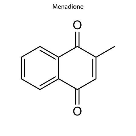 Skeletal formula of Menadione. Vitamin K 3  chemical molecule.