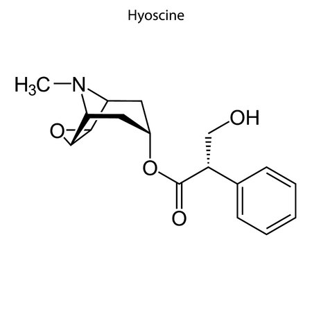 Skeletal formula of Hyoscine. chemical molecule
