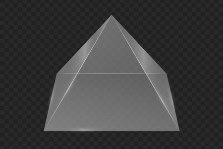 Glass prism pyramid. Vector illustration . Template for your design