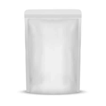 Imballaggio del sacchetto della bustina dello spuntino dell'alimento della stagnola in bianco bianco