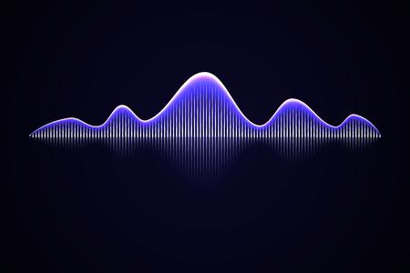 Abstrakte Musik-Schallwelle, Audio-Voice-Hintergrund