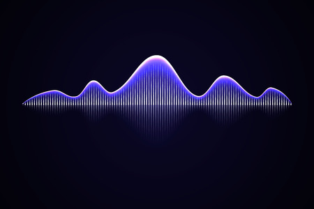 Abstract music sound wave, Audio voice background