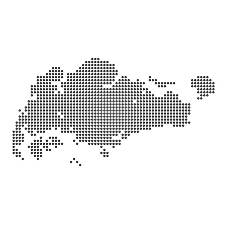 Map with dot - Singapore . Template for your design
