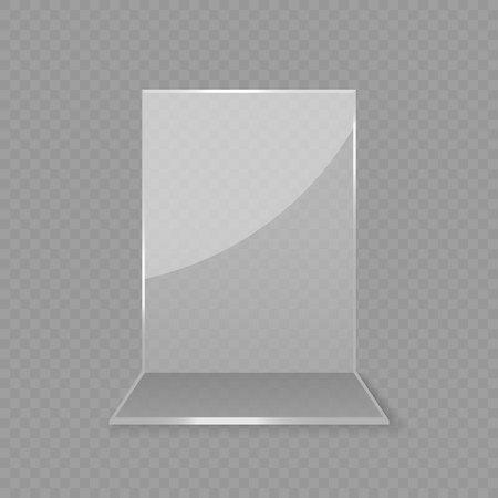 Acrylglas Tischkartendisplay isoliert Vektorgrafik