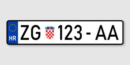 number plate. Vehicle registration plates of Croatia