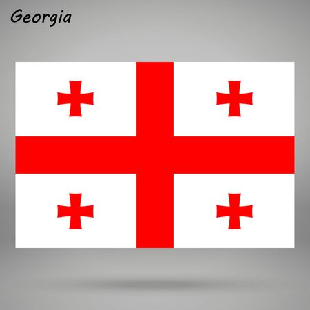 simple flag of Georgia isolated on white background