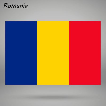 simple flag of Romania isolated on white background