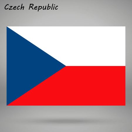 simple flag of Czech isolated on white background Illustration