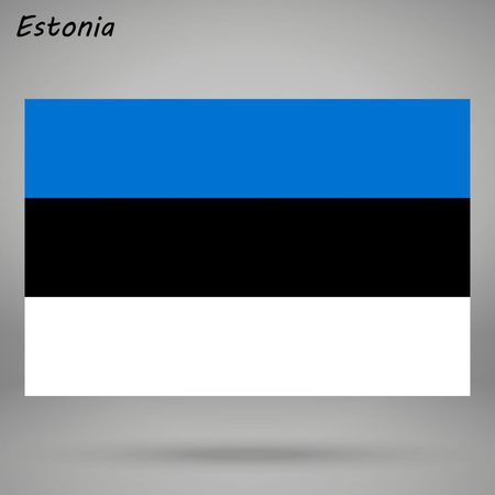 simple flag of Estonia isolated on white background