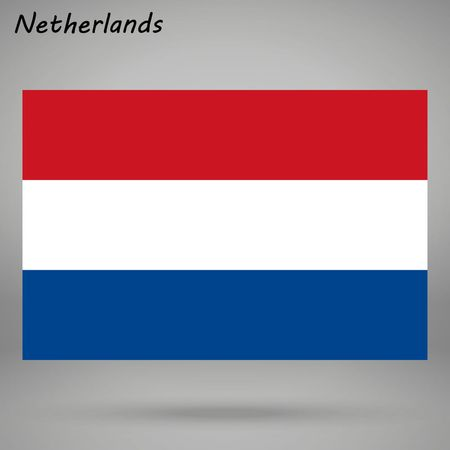 simple flag of Netherlands isolated on white background