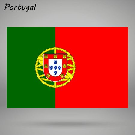 simple flag of Portugal isolated on white background