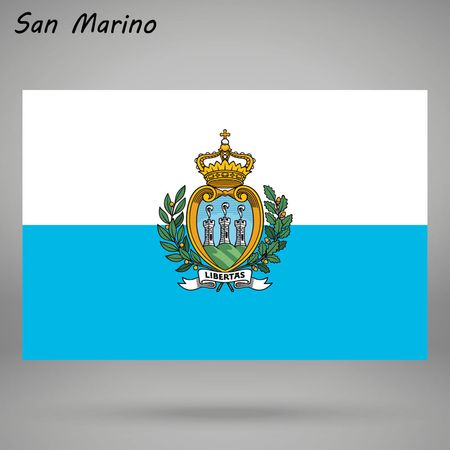 simple flag of San Marino isolated on white background