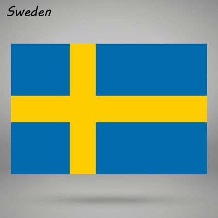 simple flag of Sweden isolated on white background