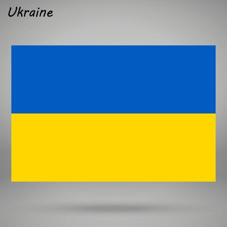 simple flag of Ukraine isolated on white background