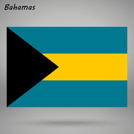 simple flag of Bahamas isolated on white background