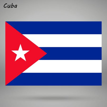 simple flag of Cuba isolated on white background