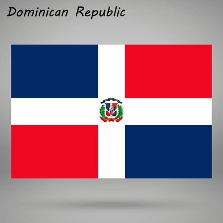simple flag of Dominican Republic isolated on white background
