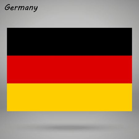 simple flag of Germany isolated on white background