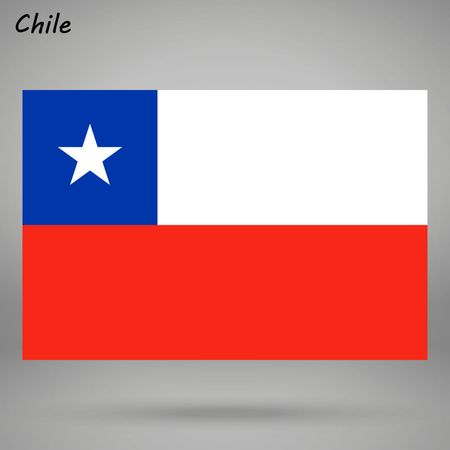 simple flag of Chile isolated on white background