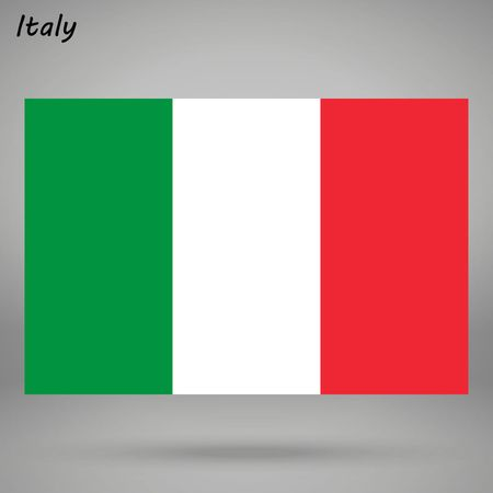 simple flag of Italy isolated on white background  イラスト・ベクター素材