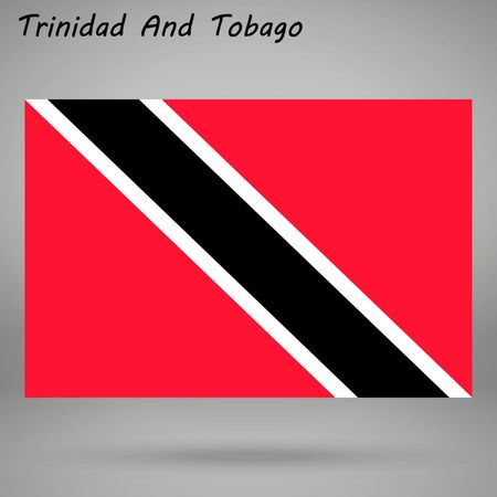 simple flag of Trinidad and Tobago isolated on white background Illustration