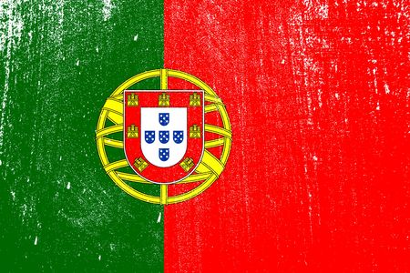 grunge styled flag of Portugal . Template for your design . Template for your design