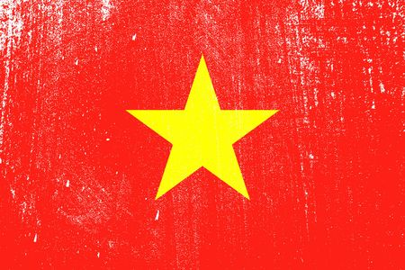 grunge styled flag of Vietnam . Template for your design . Template for your design 일러스트