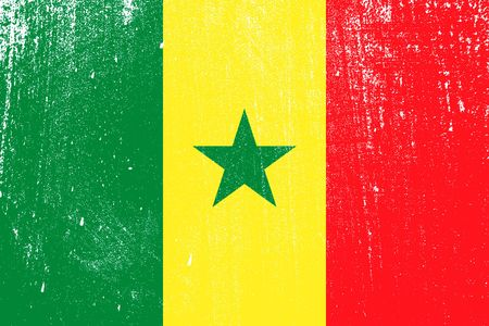grunge styled flag of Senegal . Template for your design . Template for your design