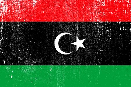 grunge styled flag of Libya . Template for your design . Template for your design